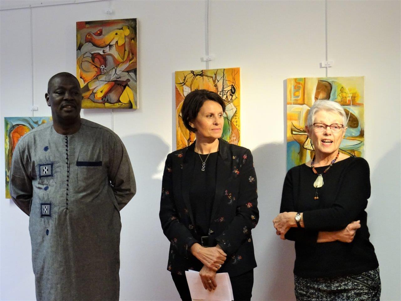 """Lamine et des membres du collectif """"Le Burkina au Pays des Olonnes"""""""