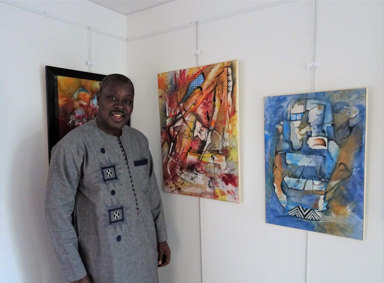L'artiste Lamine Maïga