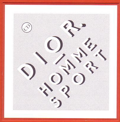 DIOR HOMME SPORT - POURTOUR ORANGE - 2012