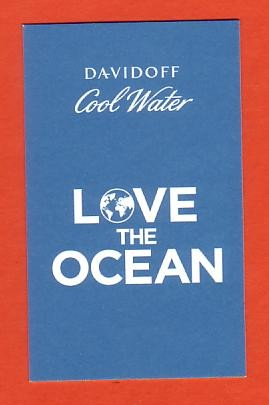 2013 - DAVIDOFF COOL WATER - LOVE THE OCEAN