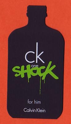 CK ONE - SHOCK FOR HIM : CARTE REPLIQUE FOND NOIR