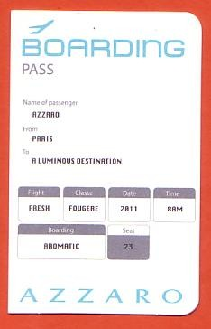 AZZARO BOARDING PASS