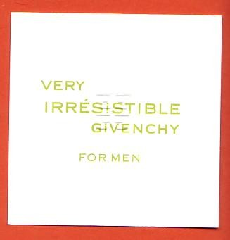 VERY IRRESISTIBLE FOR MEN - VERSO - PROVENANCE CANADA
