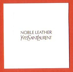 2013 - NOBLE LEATHER : RECTO