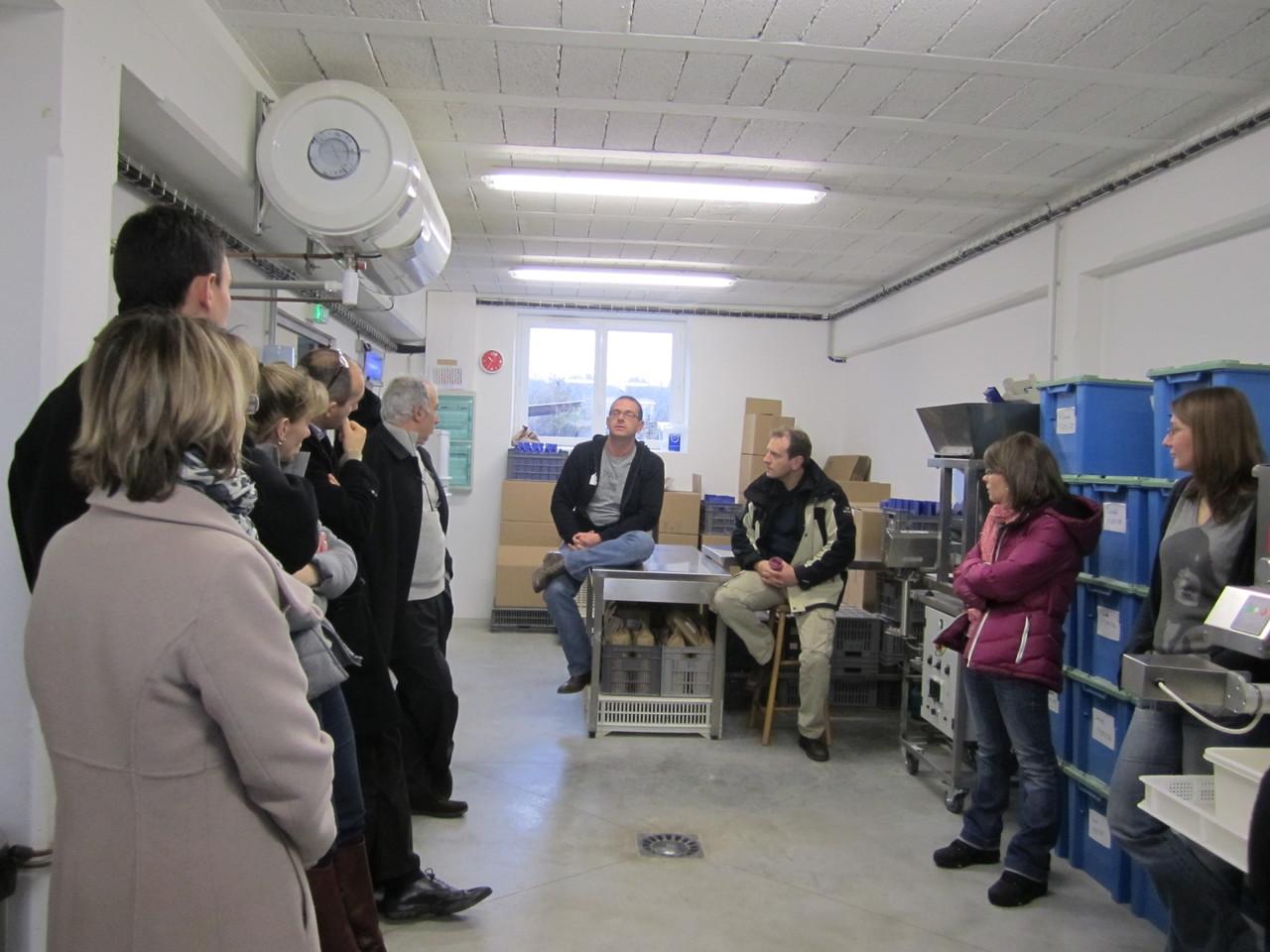 Visite de l'atelier Pâtes et farines à la ferme, chez Duclos Gonet - Crémieu (38)