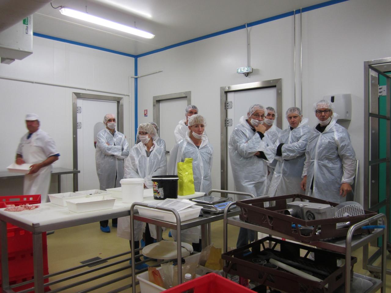 Visite de l'atelier collectif d'Uniferme (69), par Jean Villard, producteur de porcs