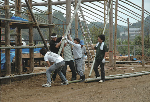 Building the stage, 2006