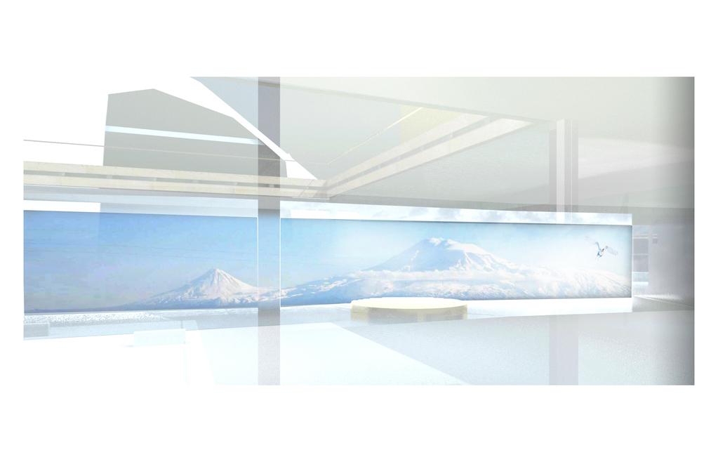 Vue depuis la grande loge vers le Mont Ararat