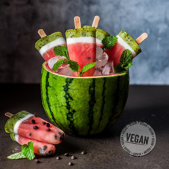 Wassermelonen- Eis am Stiel