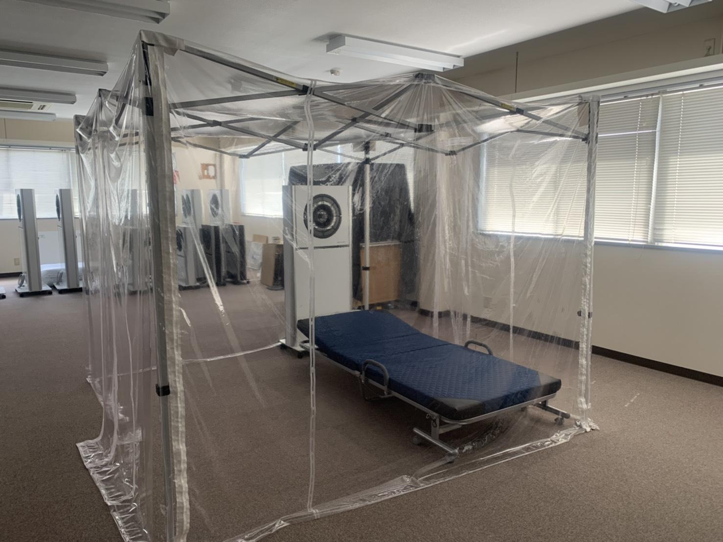 折畳式陰圧テント「エアガード」