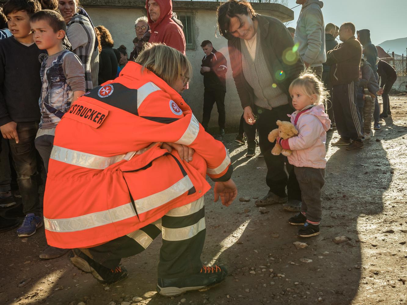 Verteilung in Albanien. Bildnachweis: Marion Martin/Johanniter