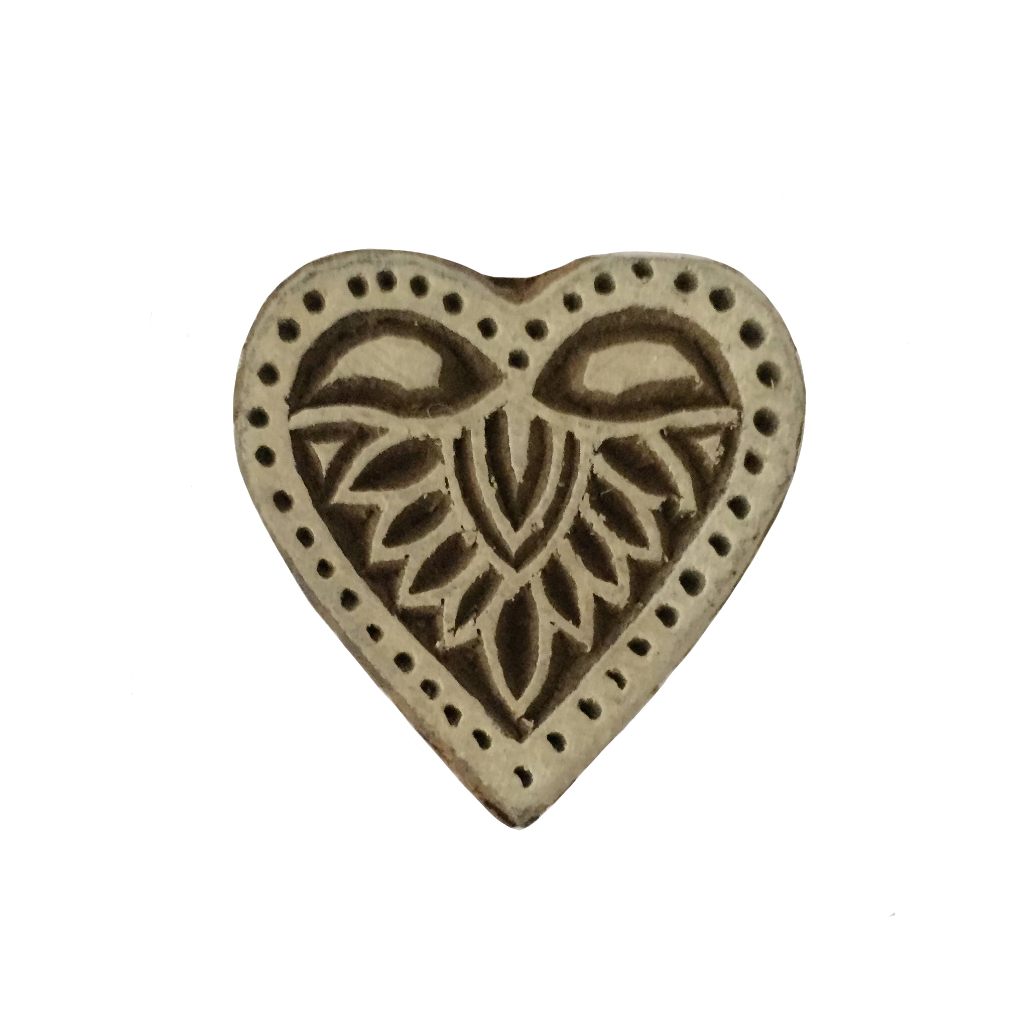 Block Print Stamp Heart No. 59