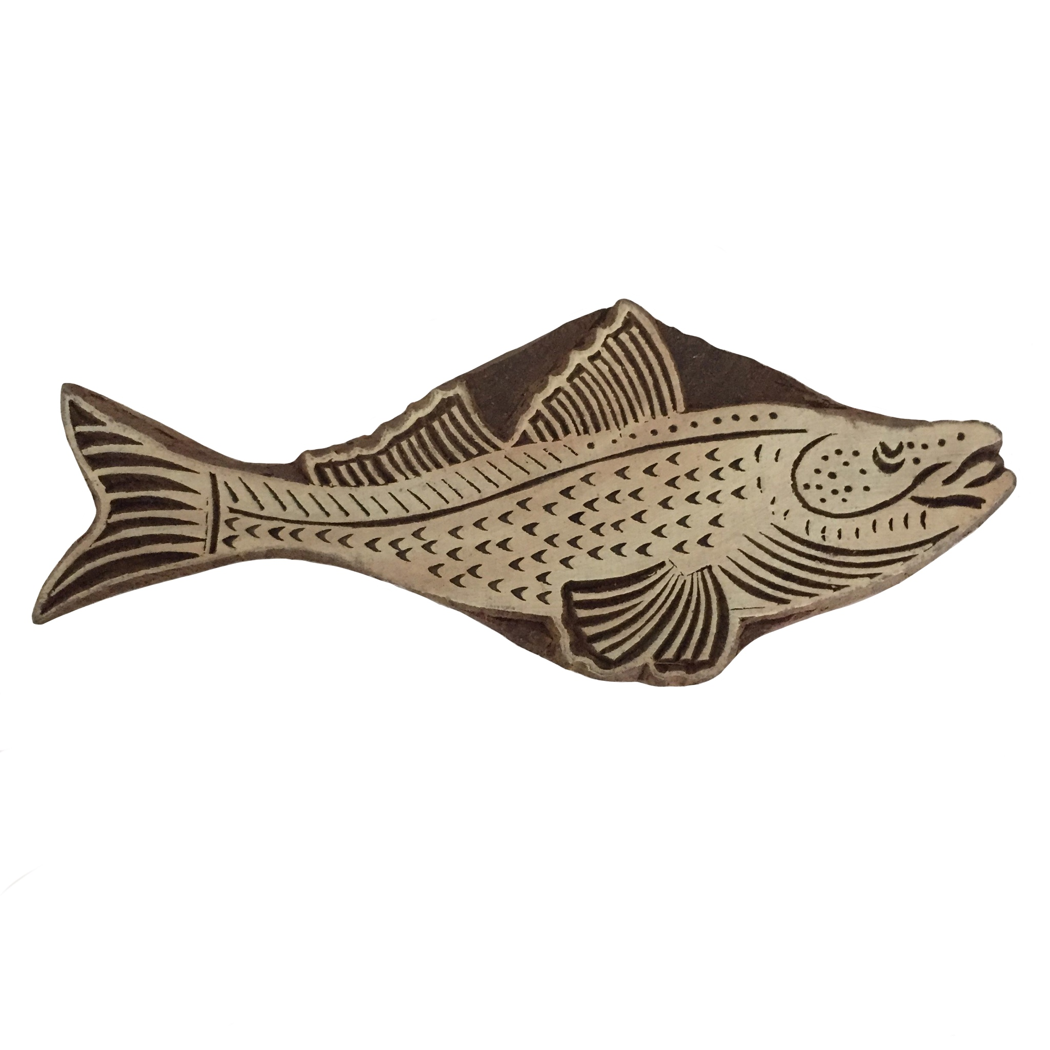 Block Print Stamp Fish M 41
