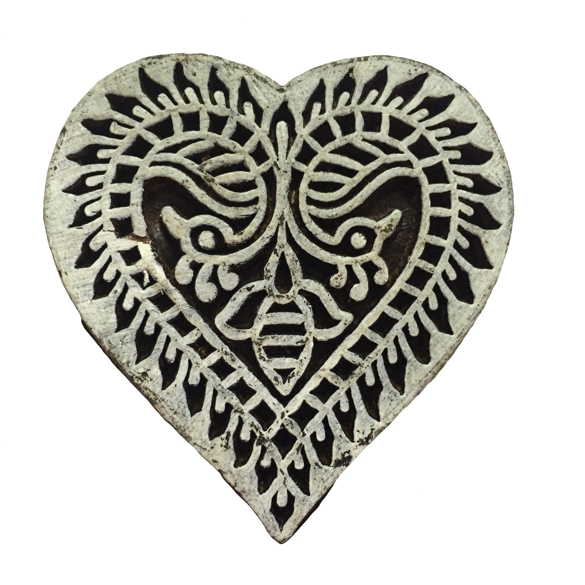 Block Print Stamp Heart  No. 14