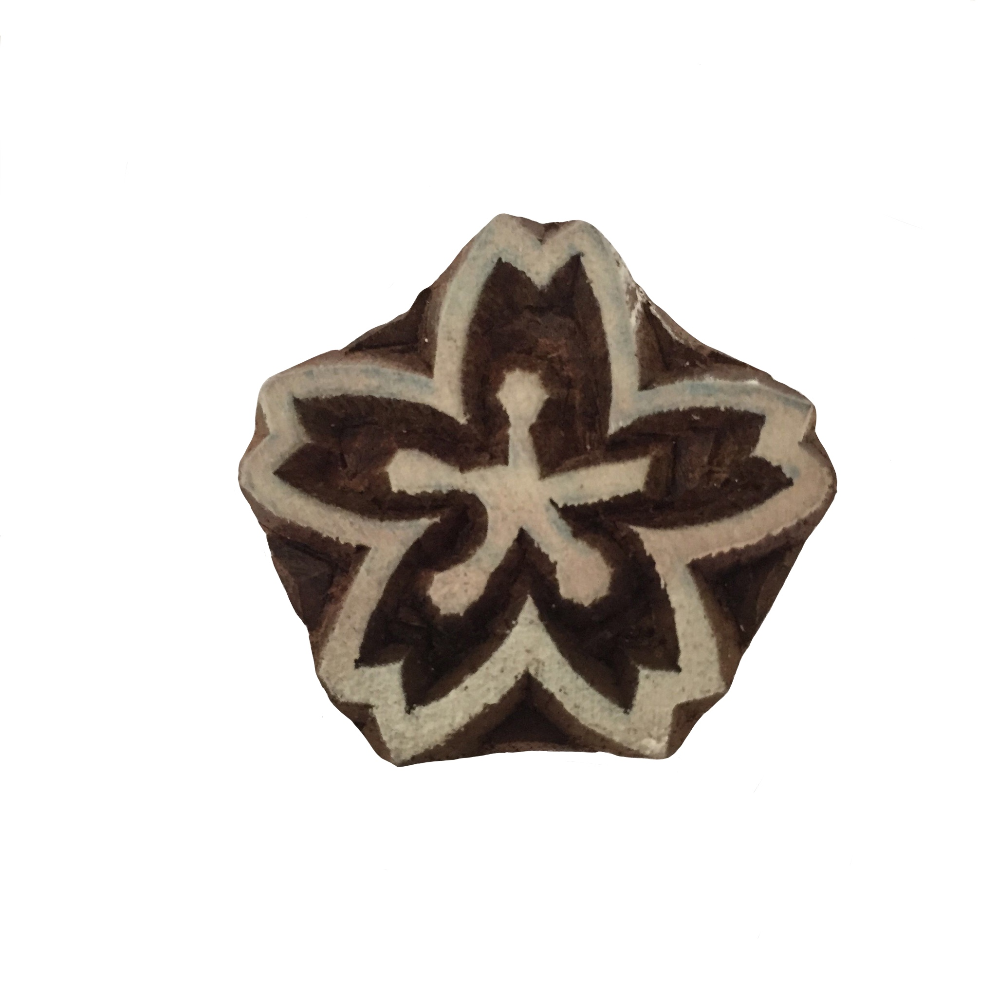 Block Print Stamp Flower  M 8