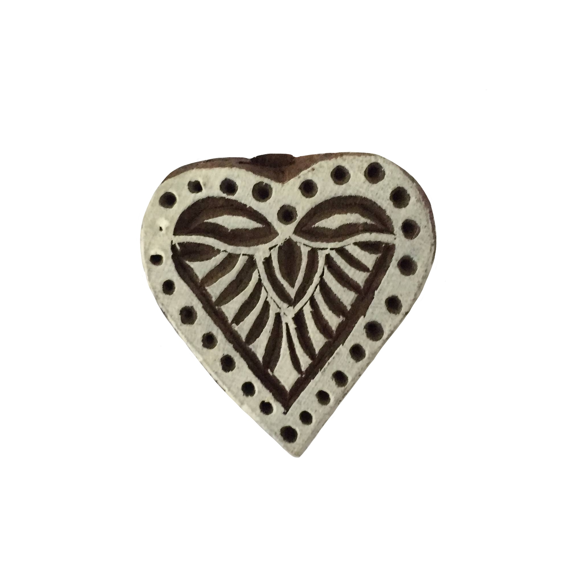 Block Print Stamp Heart No. 58