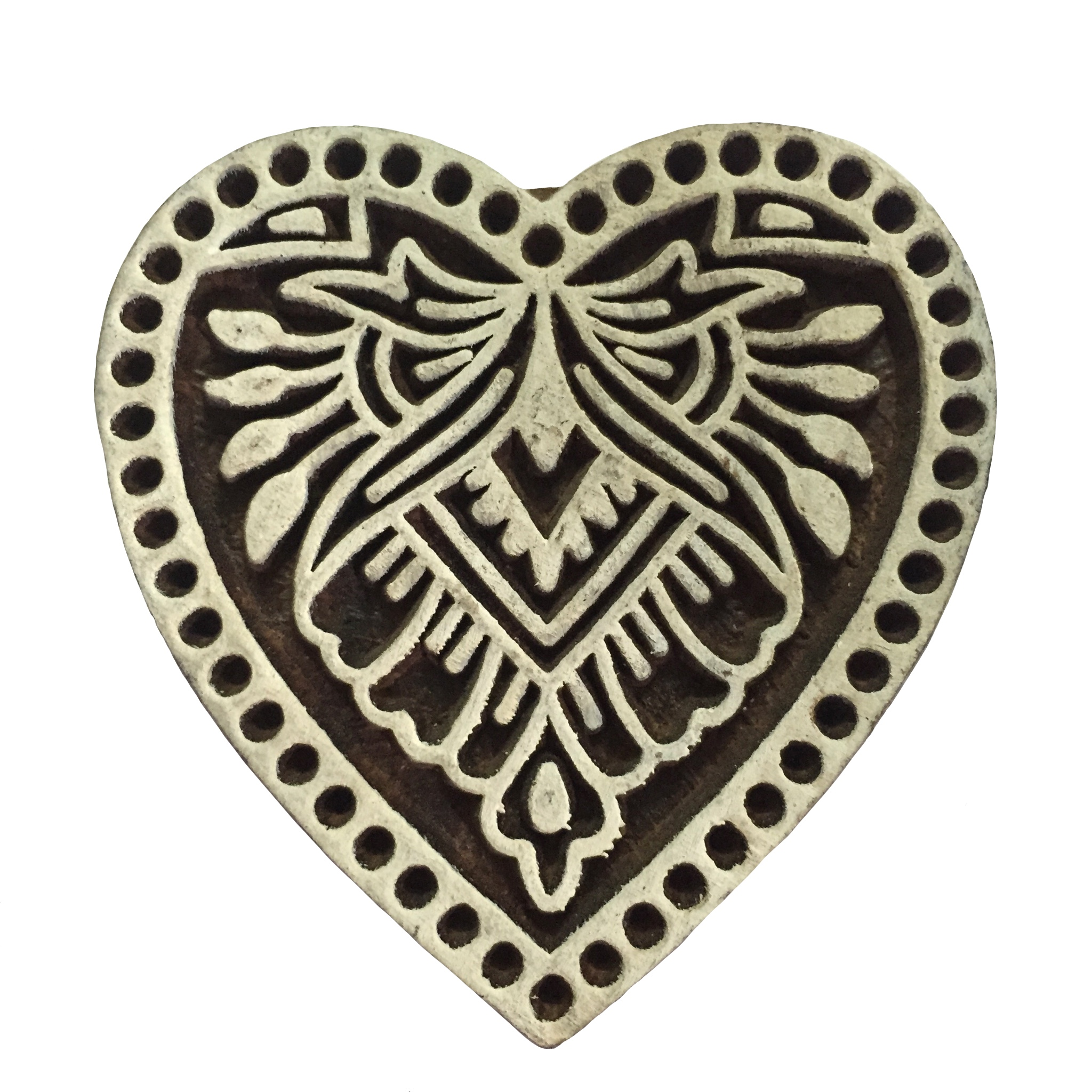Block Print Stamp Heart No. 15