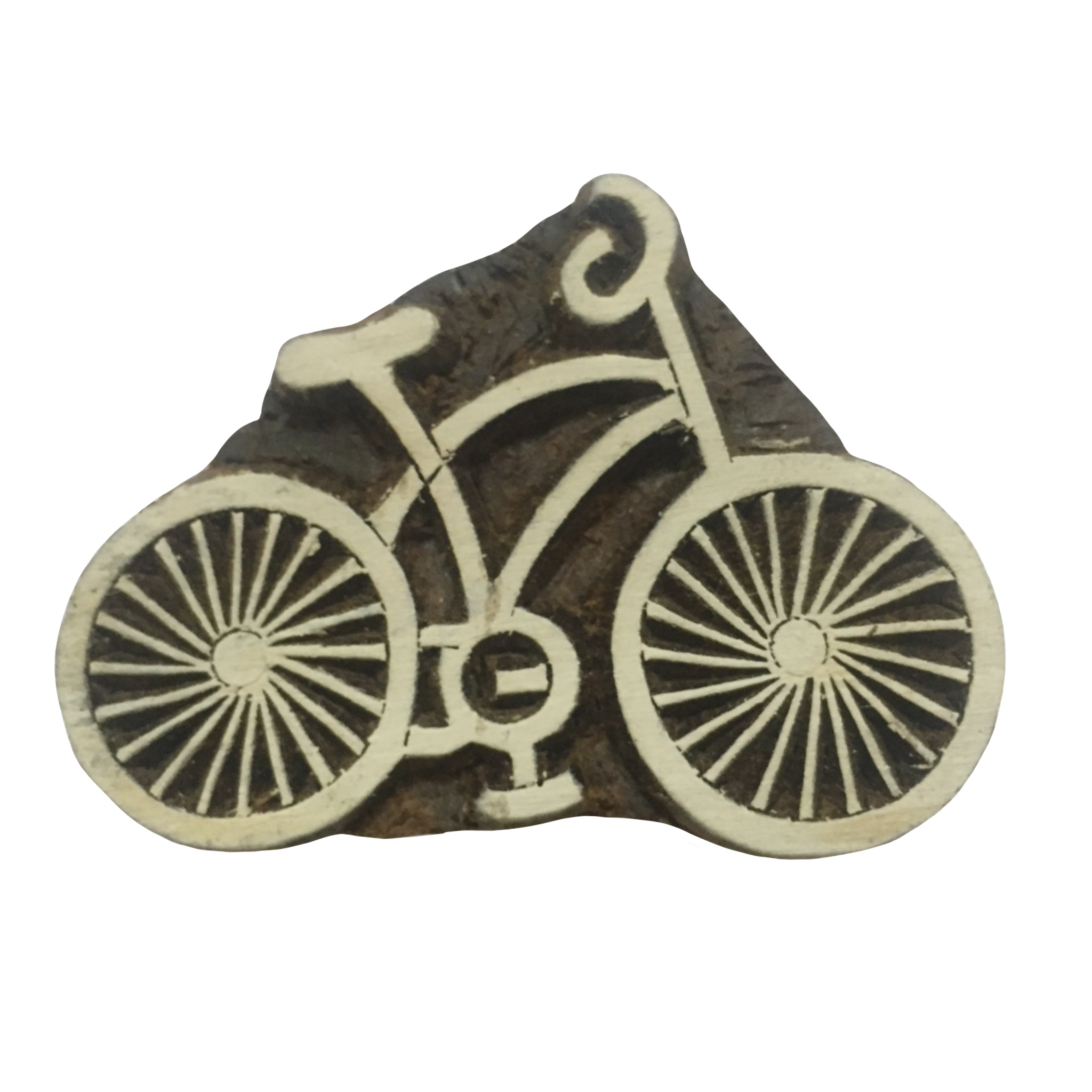 Block Print Stamp Bicycle small M 142