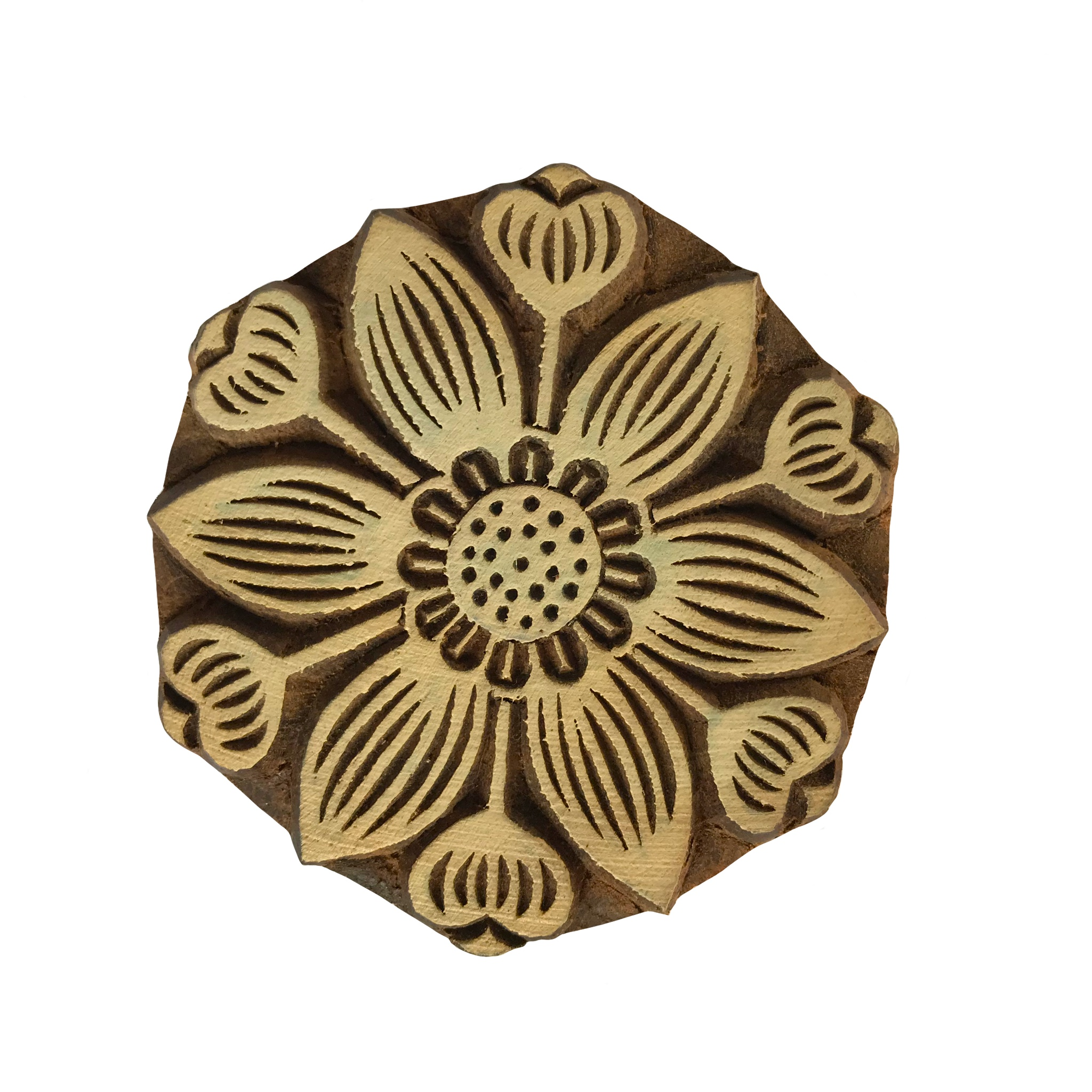Block Print Stamp Wild Flower M 115