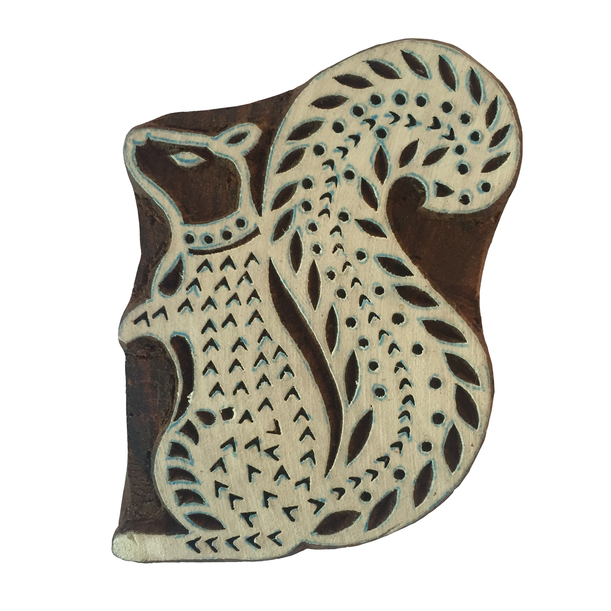 Block Print Stamp Squirrel M 61