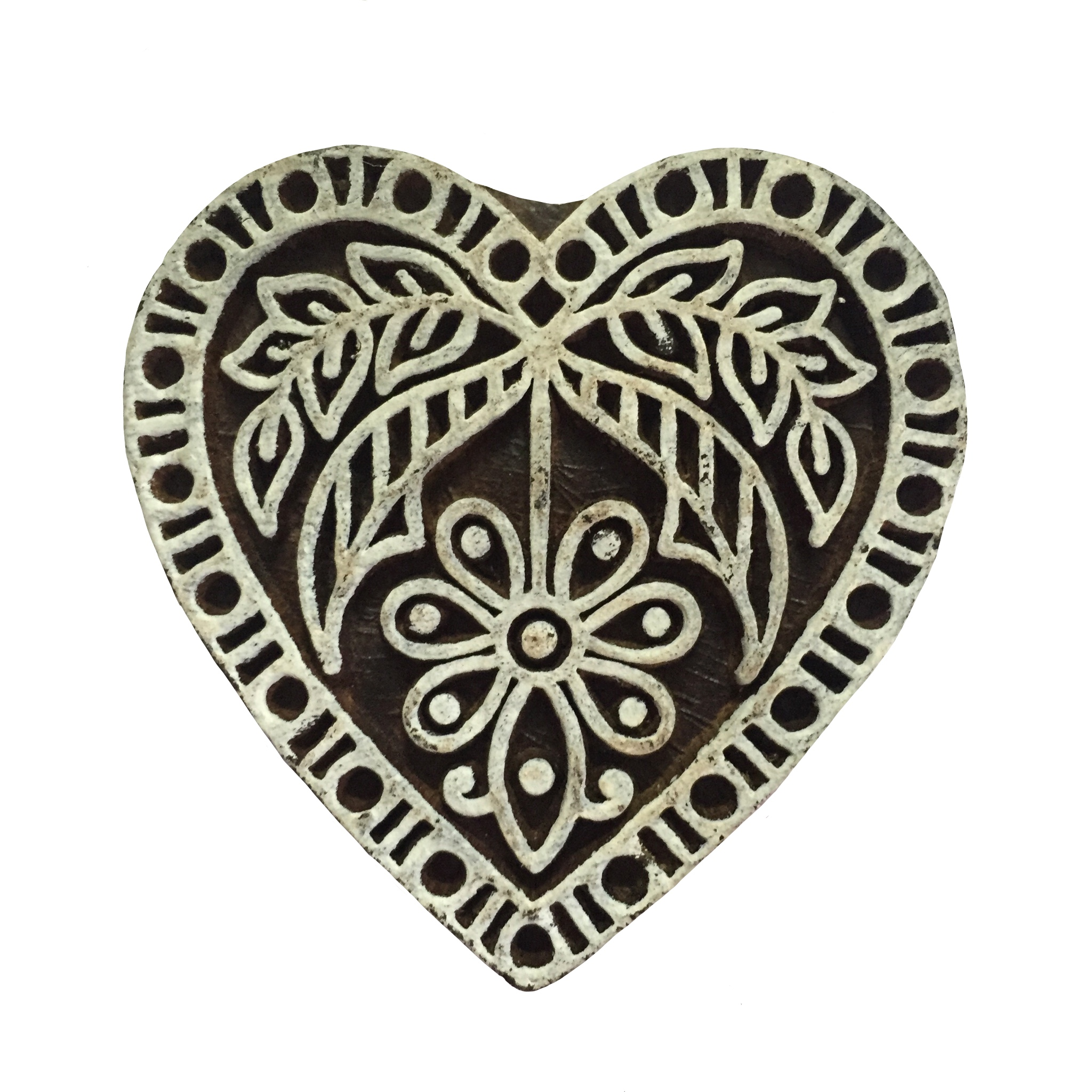 Block Print Stamp Heart  No. 13