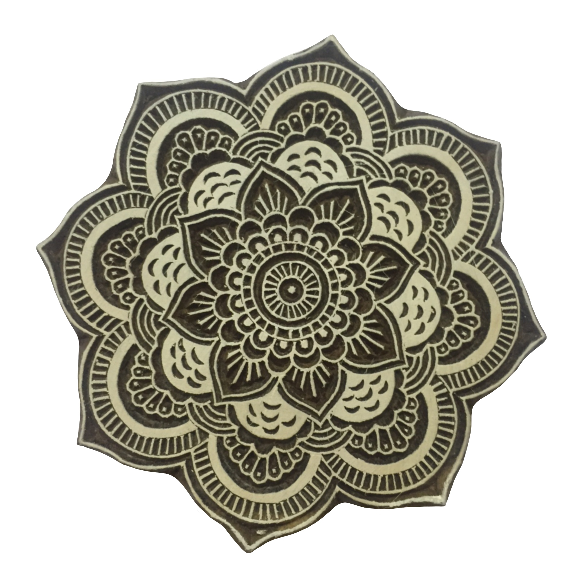 Block Print Stamp Mandala Flower M 151