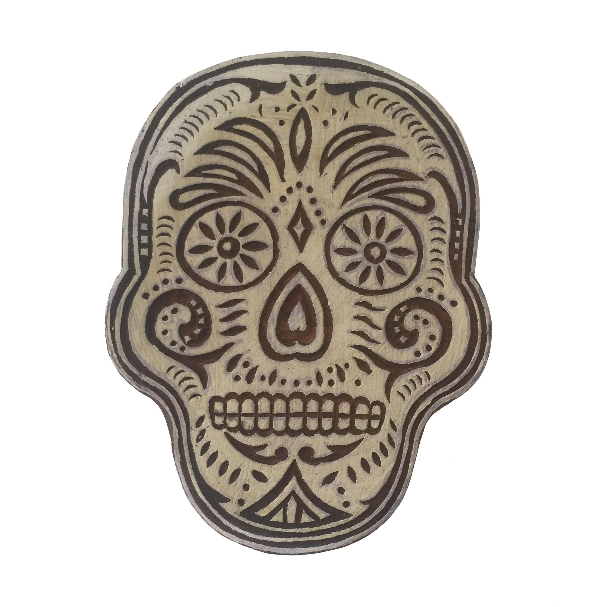 Block Print Stamp Skull M 49