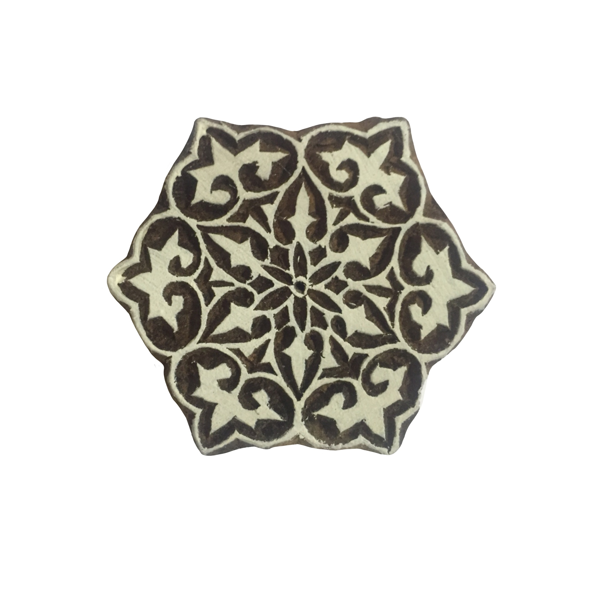 Block Print Stamp Star Flower  M 145