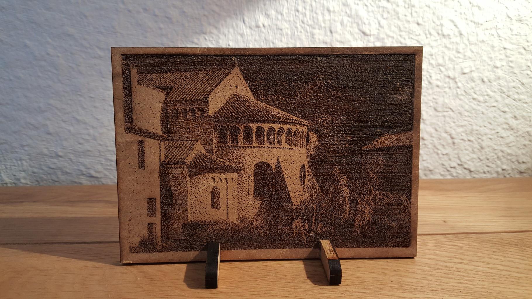 Gravure sur Bois - Abbaye de Gellone, St Guilhem Le Désert, Hérault