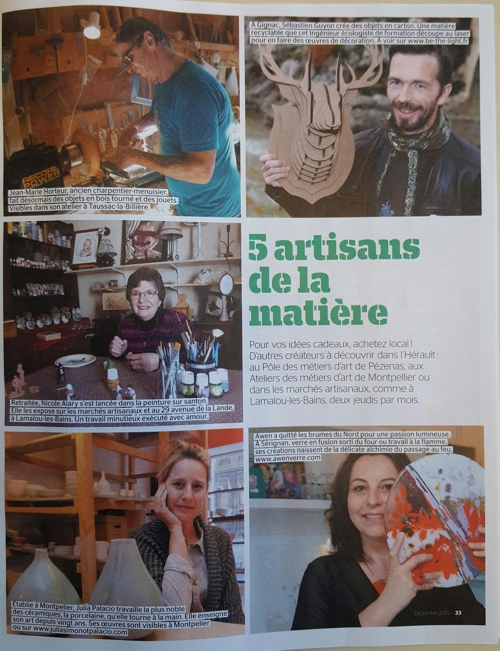 L'Hérault, magazine du département, décembre 2015