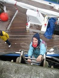 Da muss man erst einmal vom Boot kommen - 8 Meter Tiedenhub!