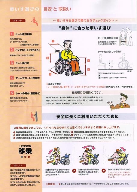 車いす選びの目安と取扱い①