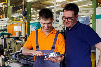 Metallbearbeitung Arbeiter Auszubildende Industrie