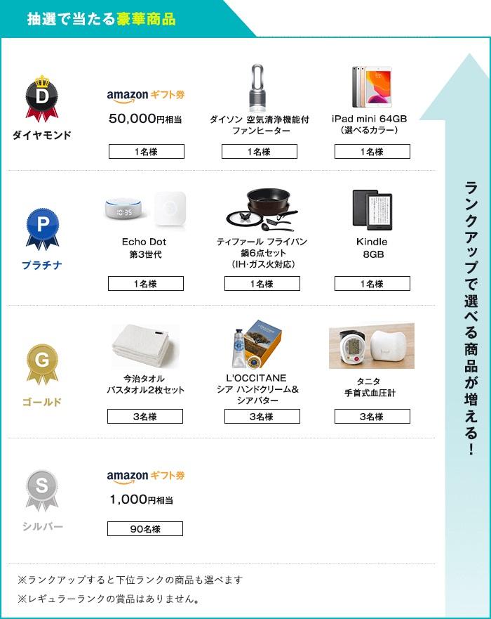 アンケートモニターおすすめランキング2位infoQの豪華賞品一覧