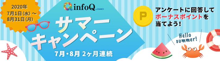 アンケートモニターおすすめランキング2位infoQのサマーキャンペーン