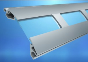 Alu Profil mit Sichtfenster