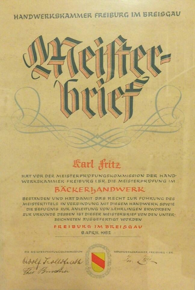 Karl's Meisterbrief
