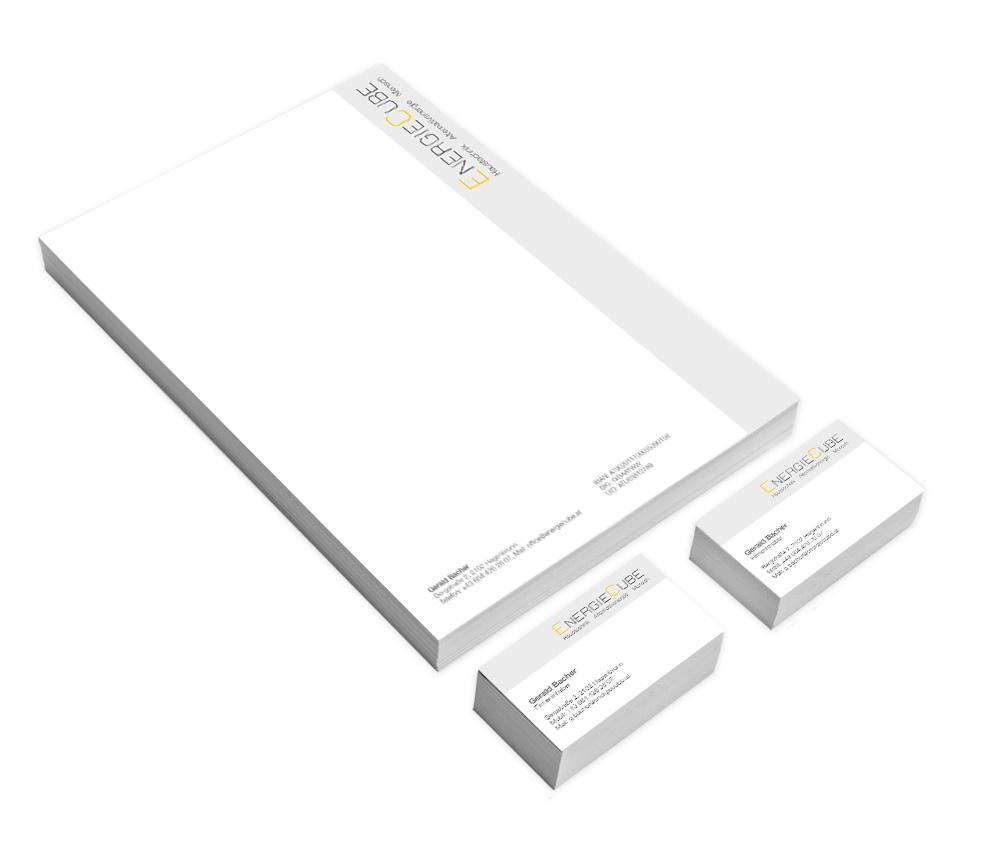 Geschäftsausstattung (Briefpapier & Visitenkarten)
