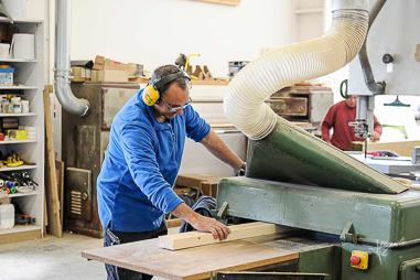 photographie atelier charpentier