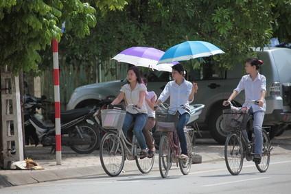 Fahrradfahrer in Ho-Chi-Minh-Stadt