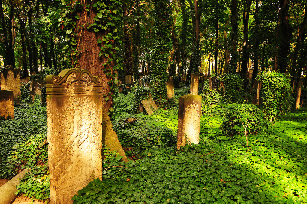 Names wiped out (at 'Jewish Cemetry')