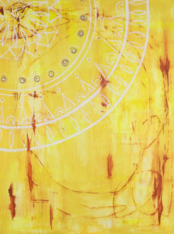 "OM 015 Originalgemälde - ""Ray of Sun"" Acryl auf Leinwand 60x80cm"
