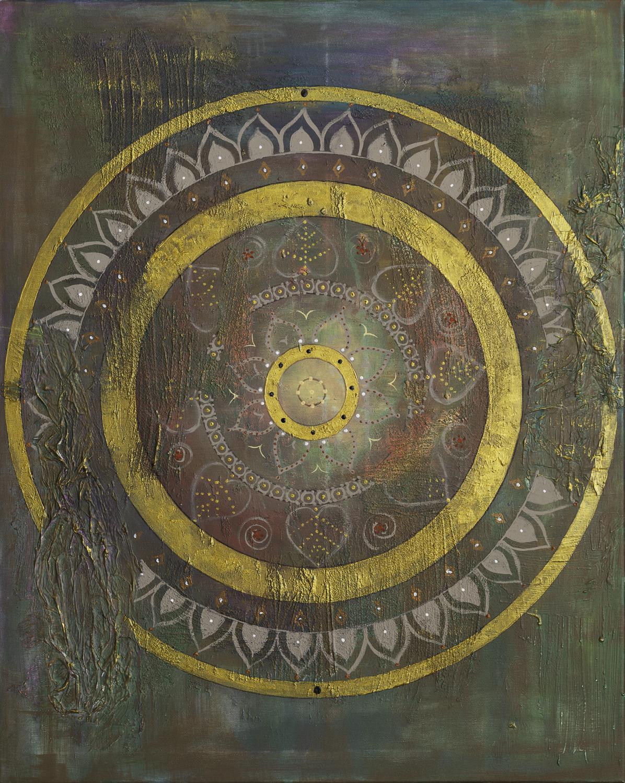 "Originalgemälde ""Fairytale Mandala"" Acryl auf Leinwand 80x100cm"