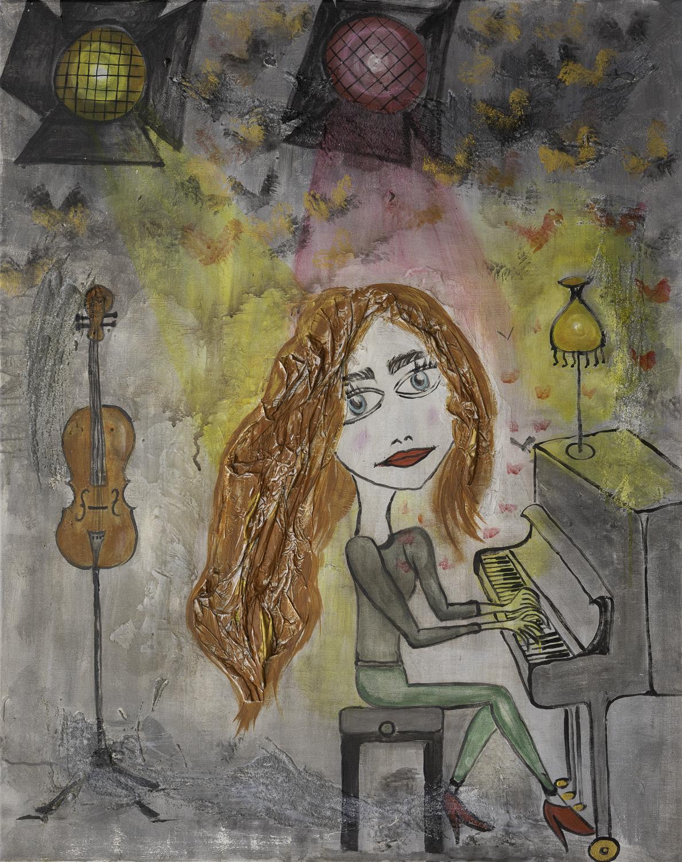 "Originalgemälde ""Om's Selfportrait"" Acryl auf Leinwand 80x100cm"