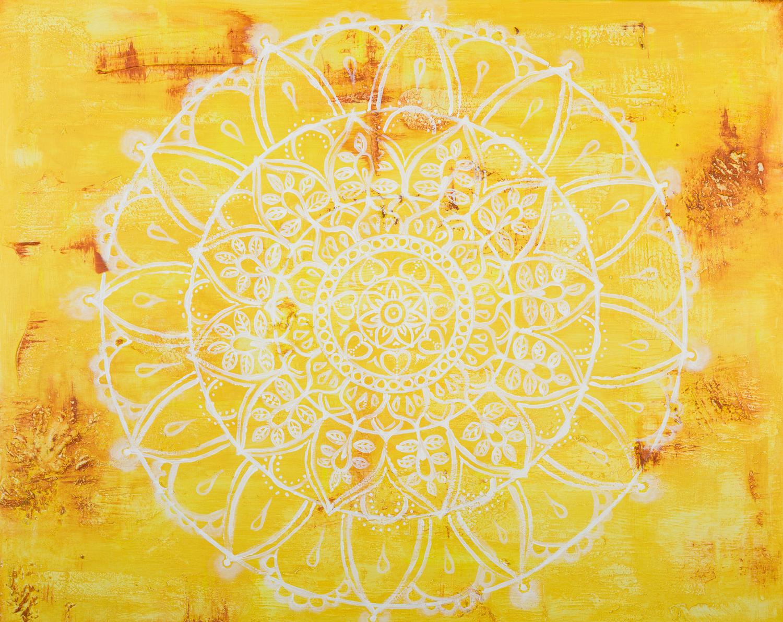 """OM 002 Originalgemälde - """"Sunflower"""" Acryl auf Leinwand 80x100cm"""