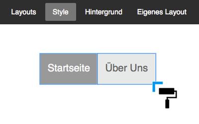 Bild: Style-Optionen Navigation