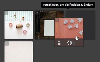 Jimdo: Bildergalerie - Fotos sortieren