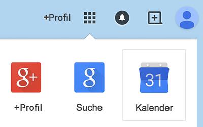 Google Kalender auswählen