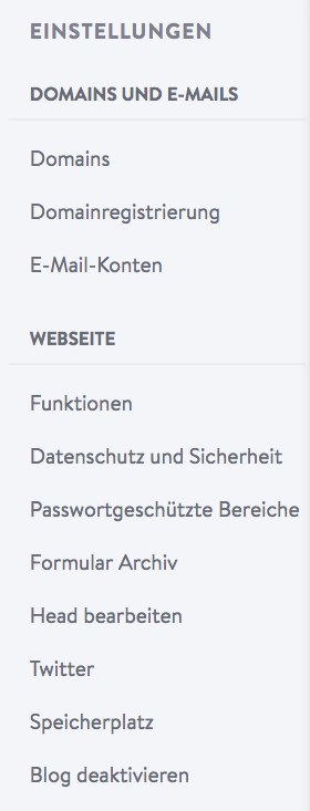 """Wähle im Menü """"Einstellungen"""" und klicke auf die Option """"E-Mail-Konten""""."""