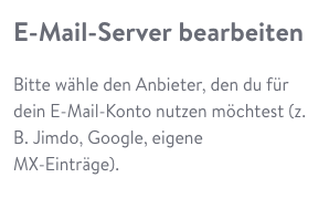 Domain: Mailserver konfigurieren